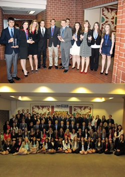 Top: Gering DECA Students Bottom: Scottsbluff DECA students