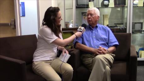 Jesse Harding interviewing Dr. Charles Arntzen.
