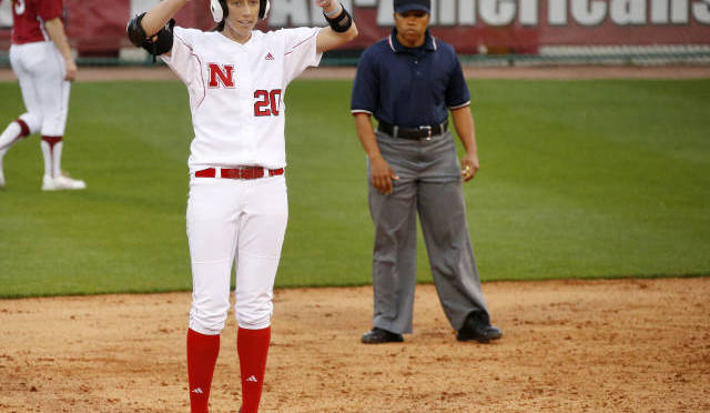 Kylee Muir had two doubles and four RBIs in the Husker. Photo Courtesy Nate Olsen/NU Media Relations