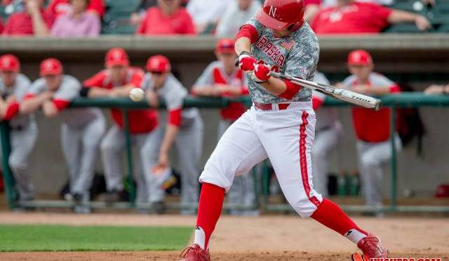 Ben Miller hit a homer for the Huskers, Photo Courtesy NU Media Relations