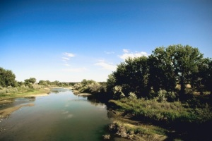 Photographer, videographer recording Platte River's run