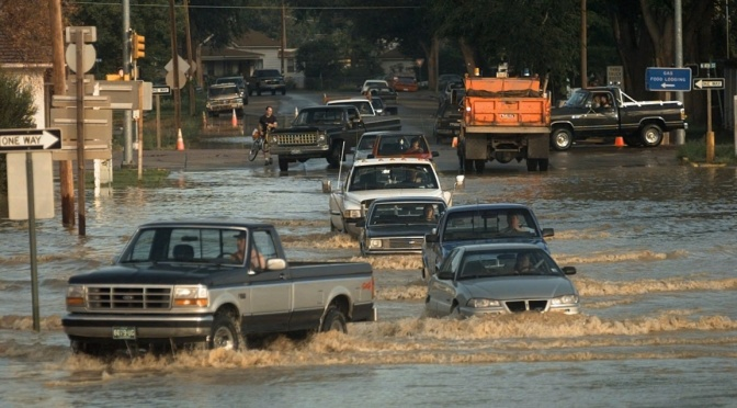 File photo of flooding in Sterling, Colorado (AP Photo/Eric Draper)