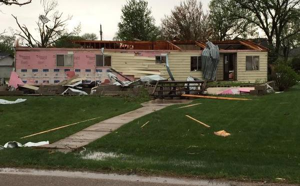 Courtesy/Alan Bonifas. Aftermath of Roseland tornado.