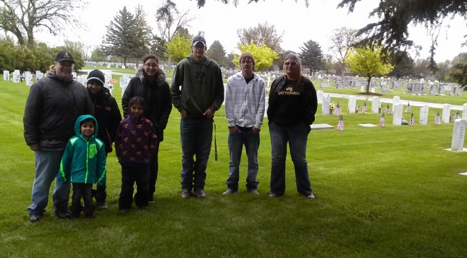 Volunteers who placed flags Friday at Fairview Cemetey on veterans graves