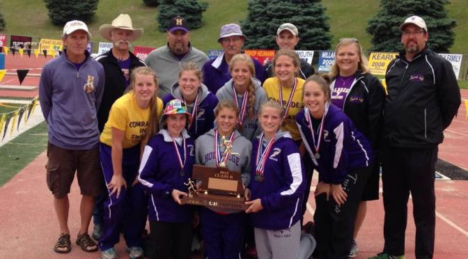 2015 Class B State Track Champs. Photo Courtesy, Jerry Buck