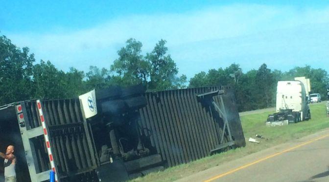 RRN/Semi-trailer accident on I-80 near Elm Creek interchange.