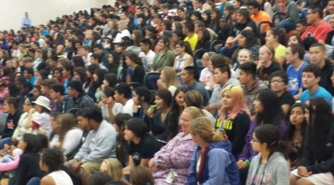 RRN/ Student body at the Lexington Academic Pep Rally on May 4, 2015.