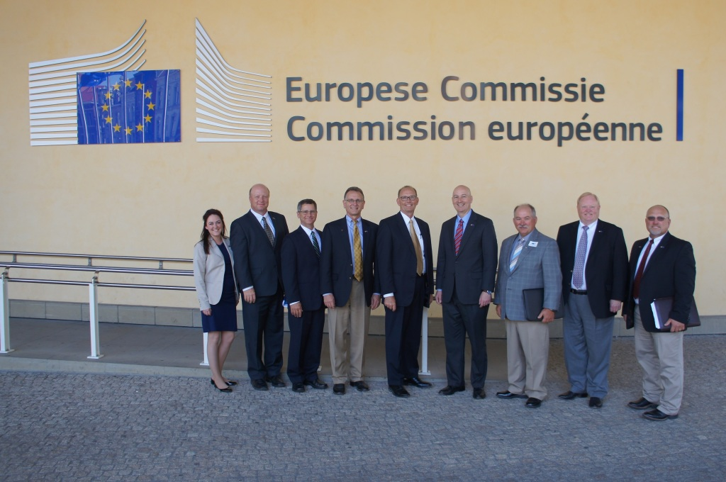 A small group accompanied Governor Ricketts to the European Commission.