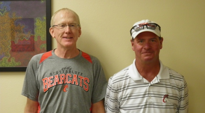 Courtesy Photo SHS Cross Country Coach Jim Barker(left)  and SHS Girls and Boys Golf Coach Mike Klein (right).