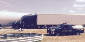 Multiple vehicle accident on I-80 near Elm Creek