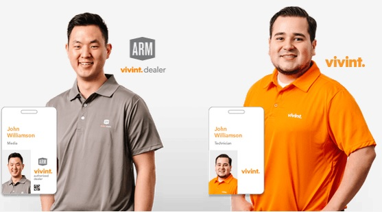 ARM and Vivint Salesmen (Courtesy Vivint.com)