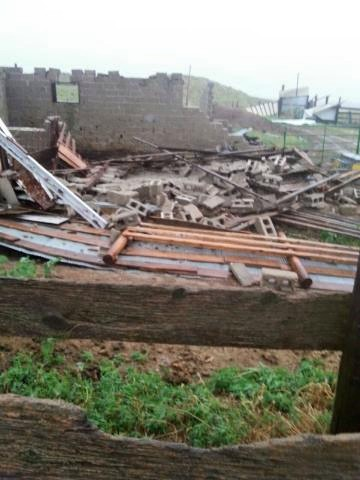 Tornado suspected for damage at Nebraska Panhandle farmstead