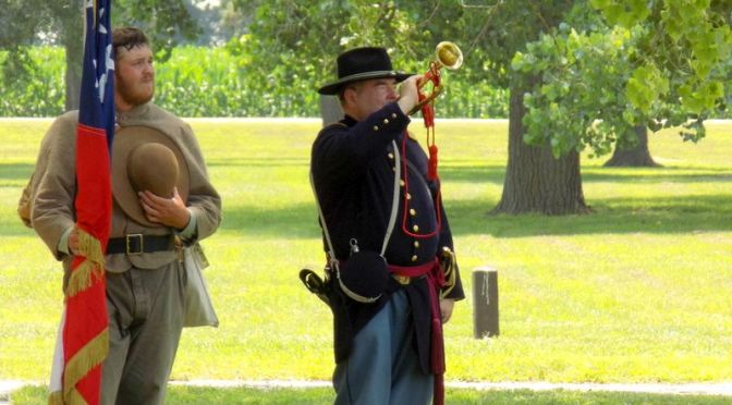Courtesy/ Ft. Kearny State Historical Park.  Reenactors are a popular feature of holidays at the Ft. Kearny State Historical Park southeast of Kearney, Ne.