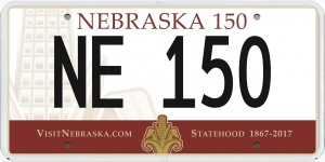 (AUDIO) Gov. Ricketts Reveals Sesquicentennial License Plate Design