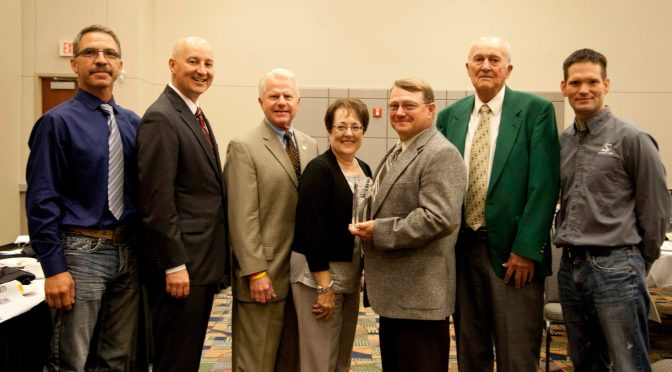 Courtesy/ Broken Bow Chamber of Commerce.  Sargent Pipe Co. of Broken Bow was recognized by the Nebraska Chamber of Commerce and Industry on September 2, 2015 in Omaha.   Pictured left to right: Troy Mack, Sargent Pipe Co.; Gov. Pete Ricketts; Sen. Matt Williams; Diana and Mike Whitesel, owners of Sargent Piple Co.; Loren Taylor,Sargent Pipe Co and Luke Wassom, General Manager of Sargent Pipe Co.