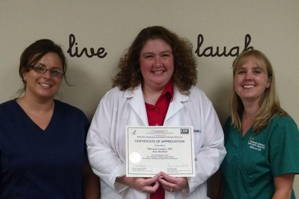 Dr. Jaeger Recognized for Influenza Surveillance