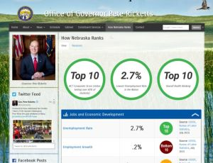 "Gov. Ricketts Unveils New ""How Nebraska Ranks"" Webpage"