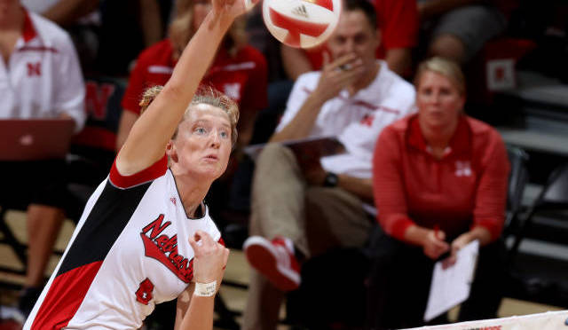 Courtesy/NU Media Relations. Kadie Rolfzen had 15 kills for the Big Red.