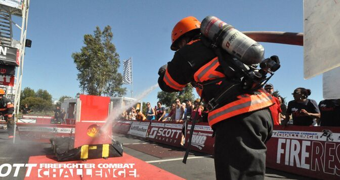Courtesy/Nebraska State Fair. Firefighter Combat Challenge