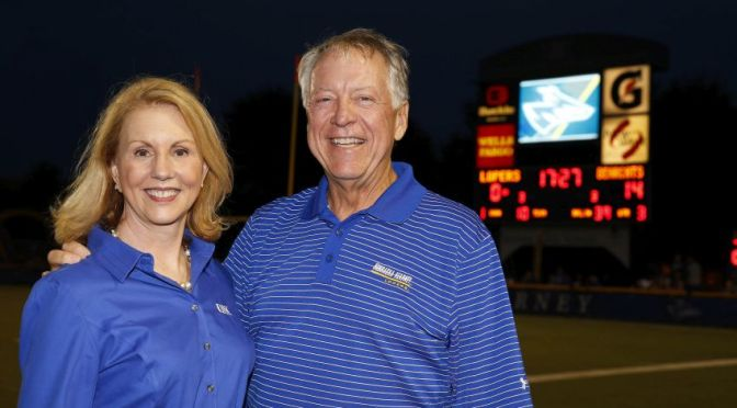Courtesy/UNK. Brian and Carey Hamilton of Omaha have provided a $100,000 lead gift to help renovate the football locker room at the University of Nebraska at Kearney.