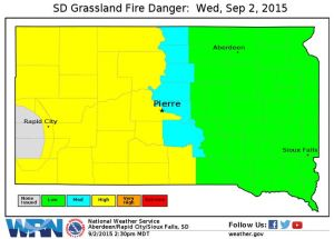 Hot, Dry Conditions Create High Fire Danger in SD