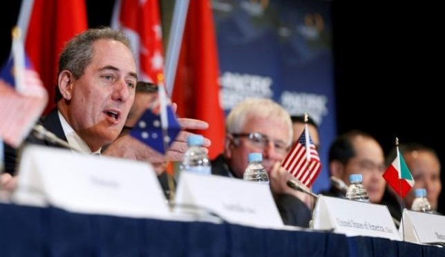 U.S. Trade Representative Micheal Froman speaks at a TPP News Conference. (Courtesy of Reuters/Jason Reed)