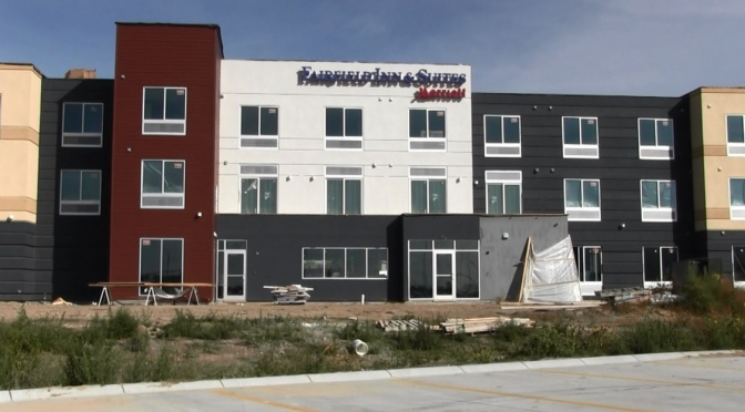 Progress continues on Scottsbluff Fairfield Inn & Suites by Marriott. (Strang/RRN/KNEB)
