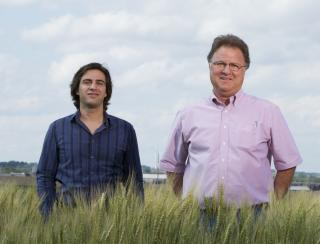Courtesy of UNL. Agronomists Patricio Grassini (left) and Ken Cassman are part of the UNL team that developed the Global Yield Gap and Water Productivity Atlas through an international research collaboration. (Craig Chandler/University Communications)