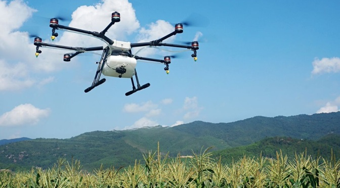 Chinese drone maker DJI is rolling out an eight-rotor, $15,000 drone to help farmers spray pesticides on crops (Image courtesy of DJI)