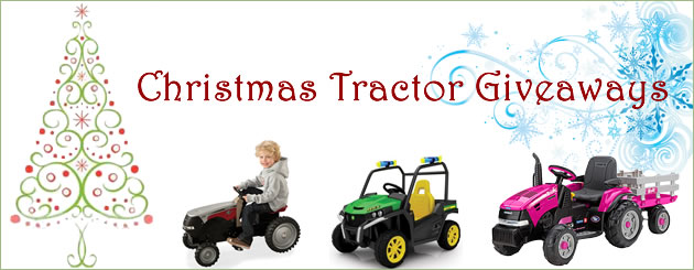 Christmas Tractor Giveaways