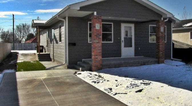 Habitat for Humanity home built at 706 East 9th Street in Scottsbluff (Strang/RRN/KNEB)