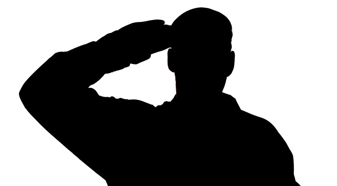British Army Soldier Saluting