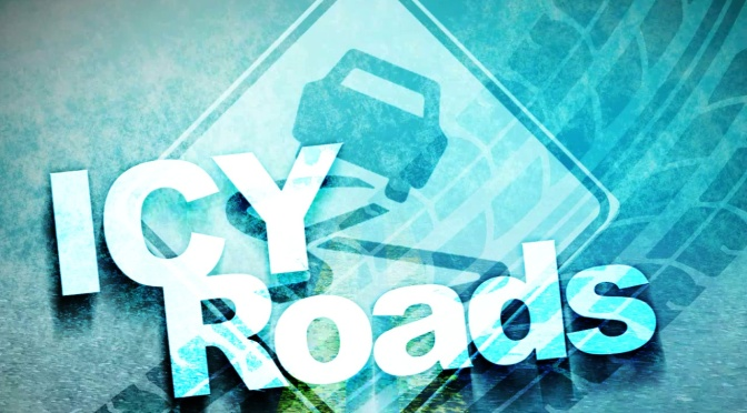 icy roads warning