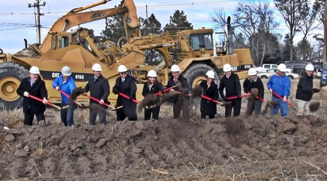 Groundbreaking for Elite Health Center in Scottsbluff. (Strang/RRN/KNEB)