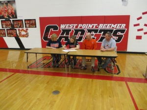 West Point-Beemer's Hansen signs with Midland