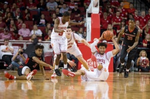 White scores 21, Shields hurt as Huskers beat Rutgers 87-63