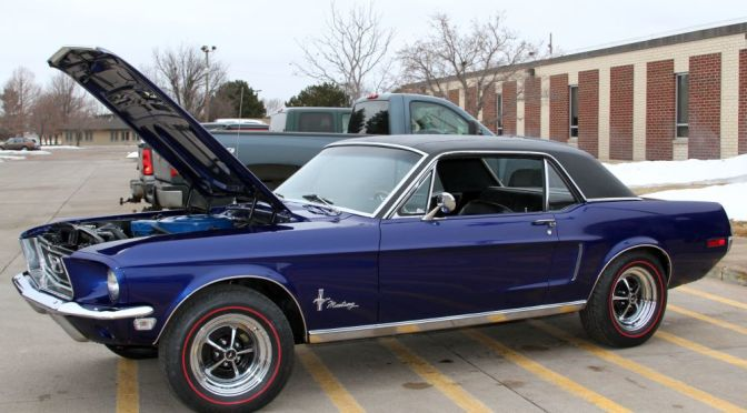 Courtesy/ Mid Plains Community College.  The 2016 Mid-Plains Community College raffle car is a 1968 Ford Mustang Coupe.
