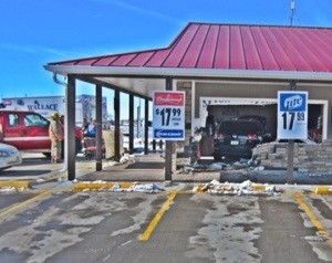 SUV commits break-in at  Wallace Co-Op