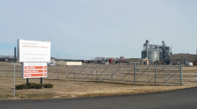 The Abengoa Biofuels of Nebraska plant at Ravenna.  (RRN Photo/Mike Gangwish)