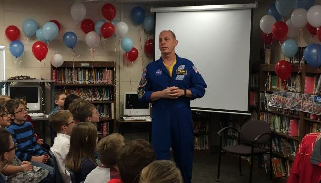 RRN/Nebraska Astronaut, Clayton Anderson visiting students at Park Elementary in Kearney.