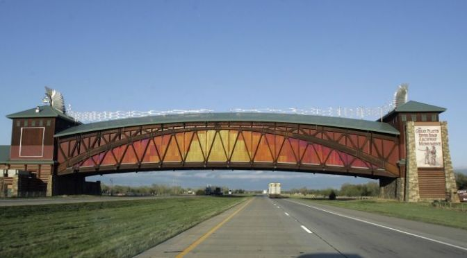 Courtesy/Associated Press. FILE -This April 25, 2006, file photo shows the Kearney Archway, which spans Interstate 80 just east of Kearney, Neb.  (AP Photo/Nati Harnik, File)