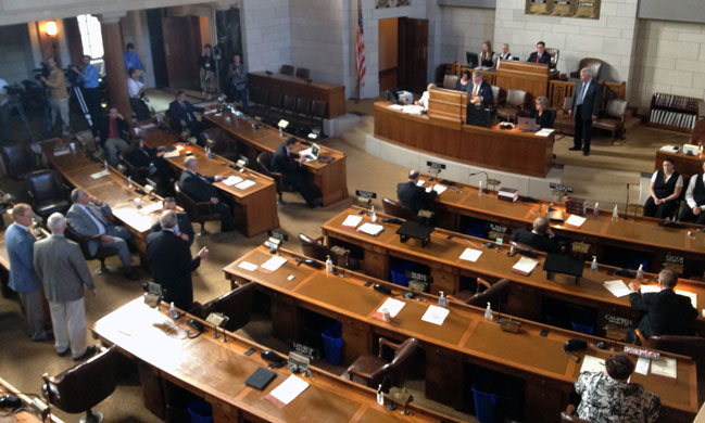 Nebraska sentencing bill wins initial legislative approval