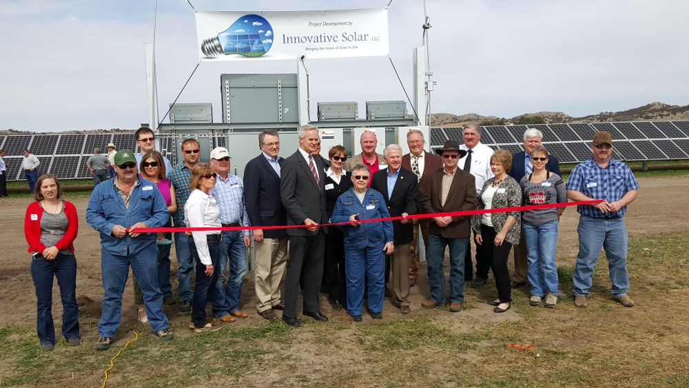 600 kilowatt solar array located on Custer County ranch