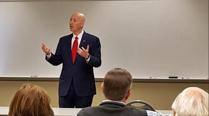 RRN/Nebraska Governor Pete Ricketts addresses Lexington Area Chamber of Commerce about his 2016 legislative priorities 03-24-16