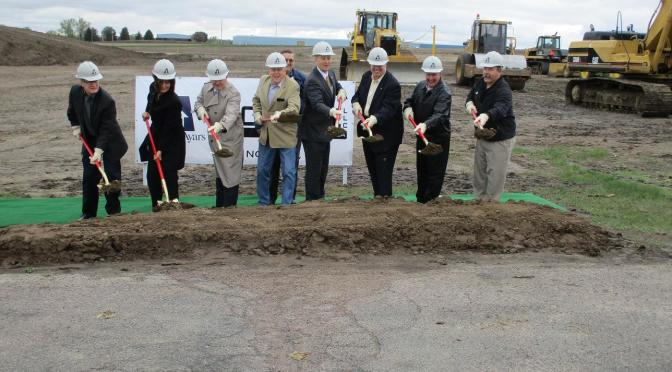 Ground-breaking ceremony Thursday at the site for the new OCT Pipe plant near Norfolk