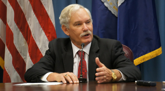 RRN Photo of Michael Scuse, Under Secretary with USDA