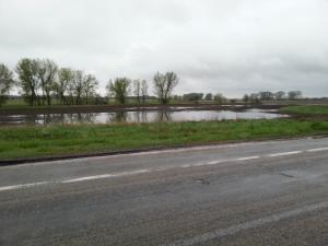Heavy Rain Leaves Flooded Fields