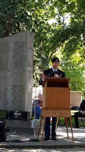 Cozad Memorial Day service featured native service member as speaker