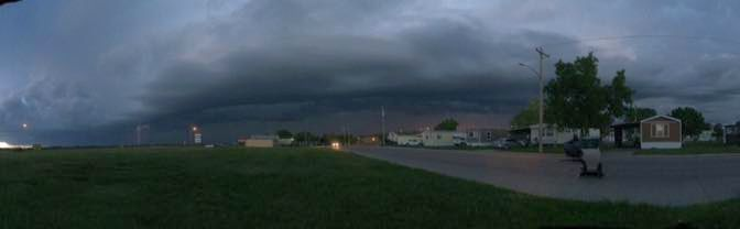 Courtesy/ Image of storm at Lexington taken by Olivia Medellin on Wednesday evening May 25, 2016.