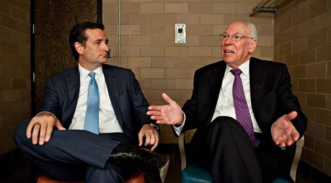 Presidential candidate Sen. Ted Cruz(left) with father Pastor Rafael Cruz.
